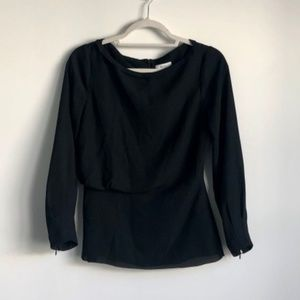 Reiss Black Blouse Size USA 6 / UK 10